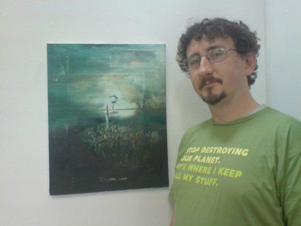 Gerry Davis' painting, Light, and me