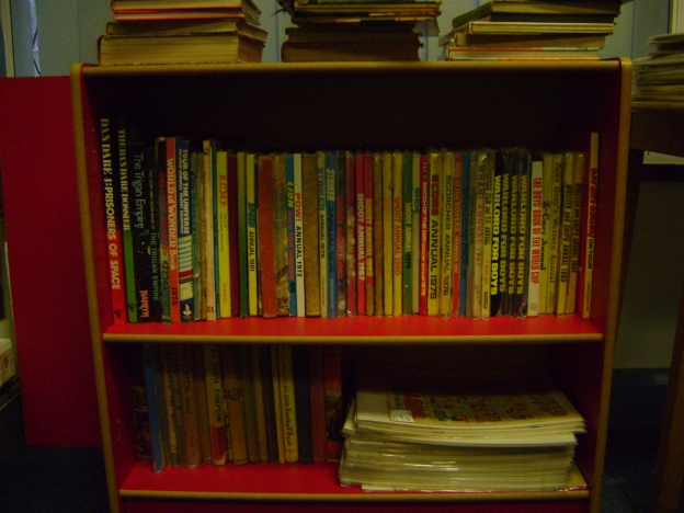 A selection of comic book annuals