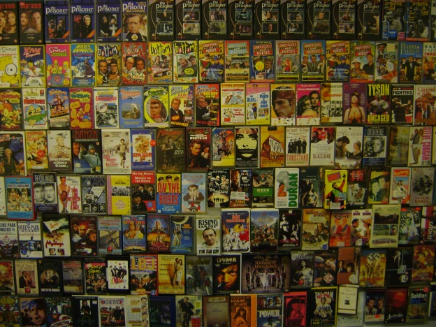 A selction of video cassettes