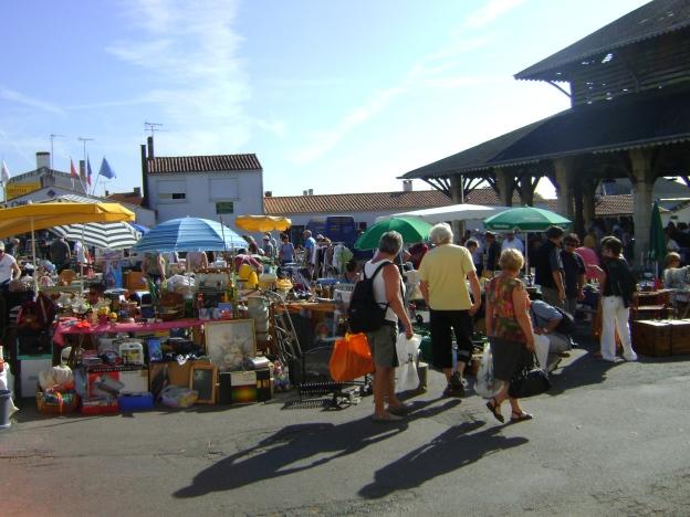 A vide grenier (flea market) in rural France