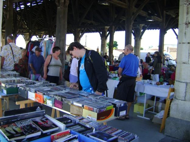Browsing through the cd racks