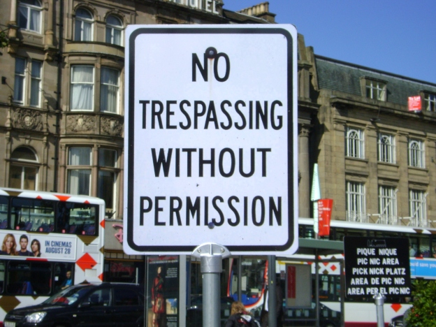 No Trespassing Without Permission