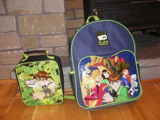 My nephew's matching schoolbag and lunchbox