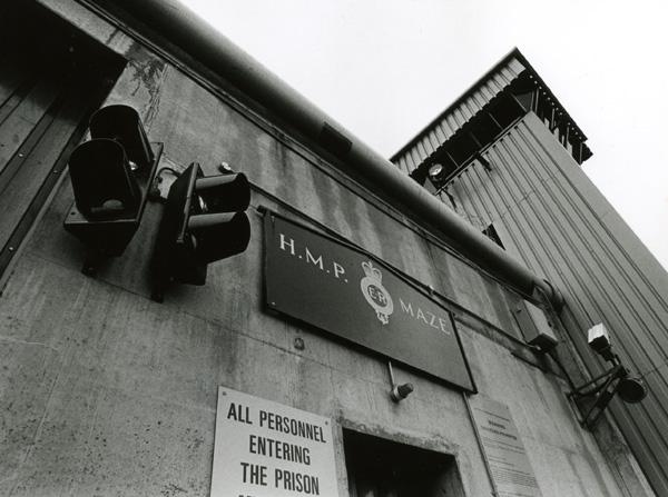 The entrance to Long Kesh prison