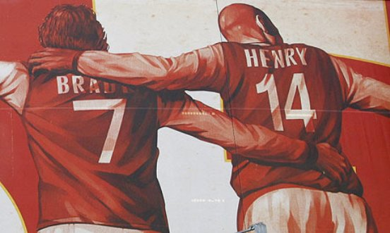 I have forgiven henry town full of losers for Emirates stadium mural
