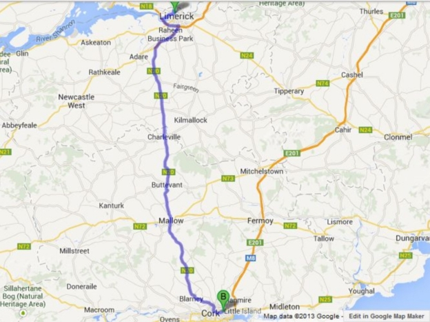 Limerick to Cork